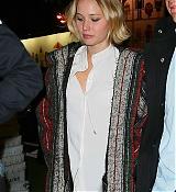 Jennifer Lawrence Leaving Dinner with Liam Hemsworth - November 14
