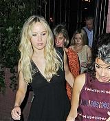 Jennifer Lawrence Dining at Waverly Inn - June 26