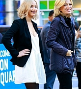 Jennifer Lawrence and Diane Sawyer Filming A Segment - October 10