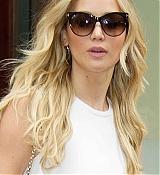 Jennifer Lawrence Leaving Hotel in Greenwich - June 29