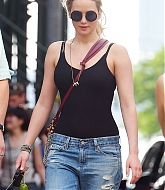 Jennifer Lawrence Leaving Taylor Swift's Apartment - May 25