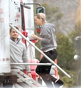 Jennifer Lawrence Filming 'Joy' on March 30