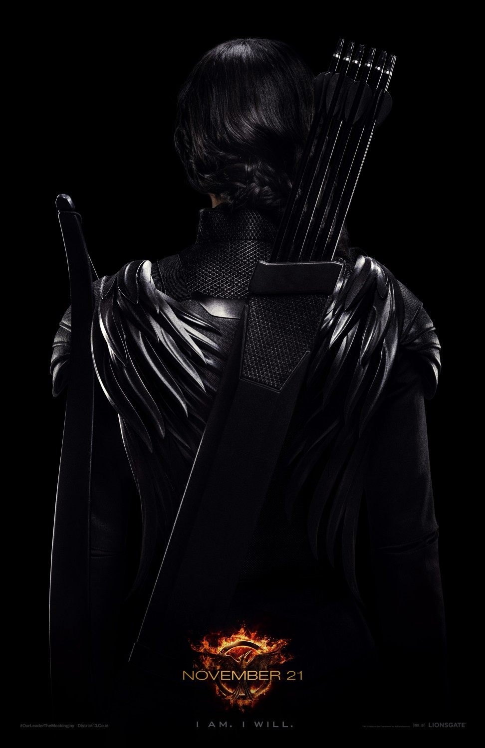 Katniss Everdeen Character Mocking Jay Part 1 Poster