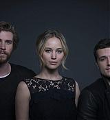Jennifer Lawrence, Josh Hutcherson and Liam Hemsworth for Mockingjay Part 1 Portrait Session