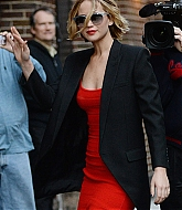 Jennifer Lawrence Arriving The Late Show with David Letterman - November 12