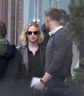 Jennifer Lawrence Filming Joy on April 14, 2015