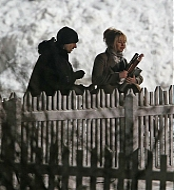 Jennifer Lawrence Filming Joy on February 19, 2015