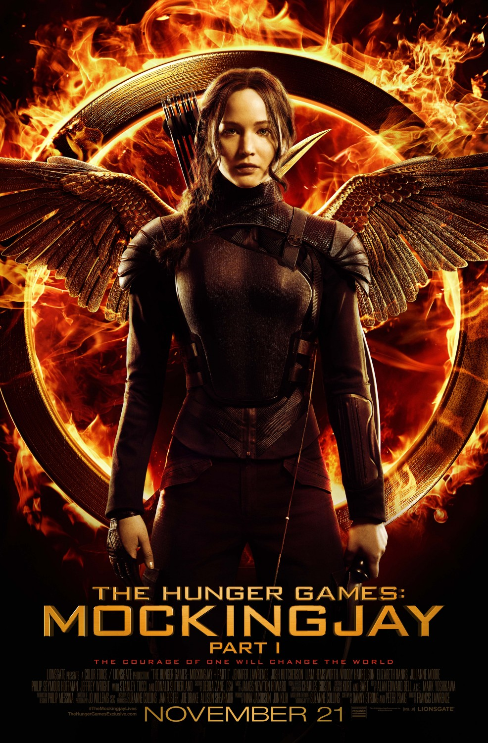 Jennifer Lawrence on Mocking Jay: Part 1 Poster