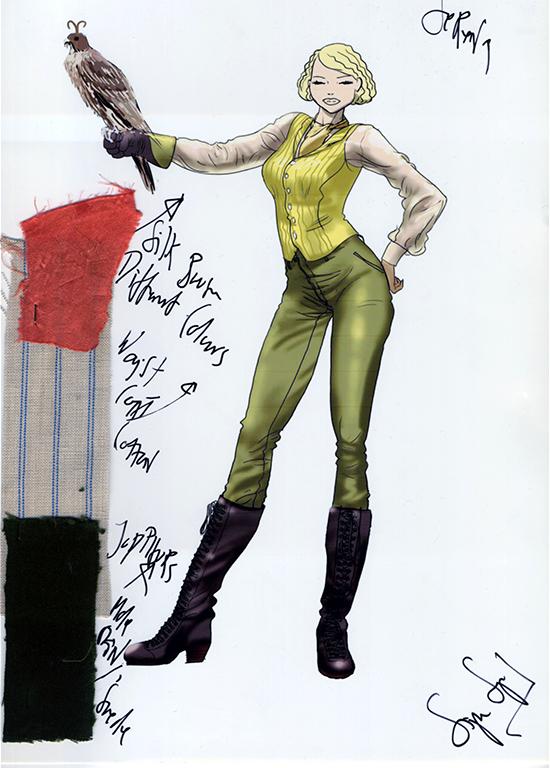 Jennifer Lawrence's Serena costumes